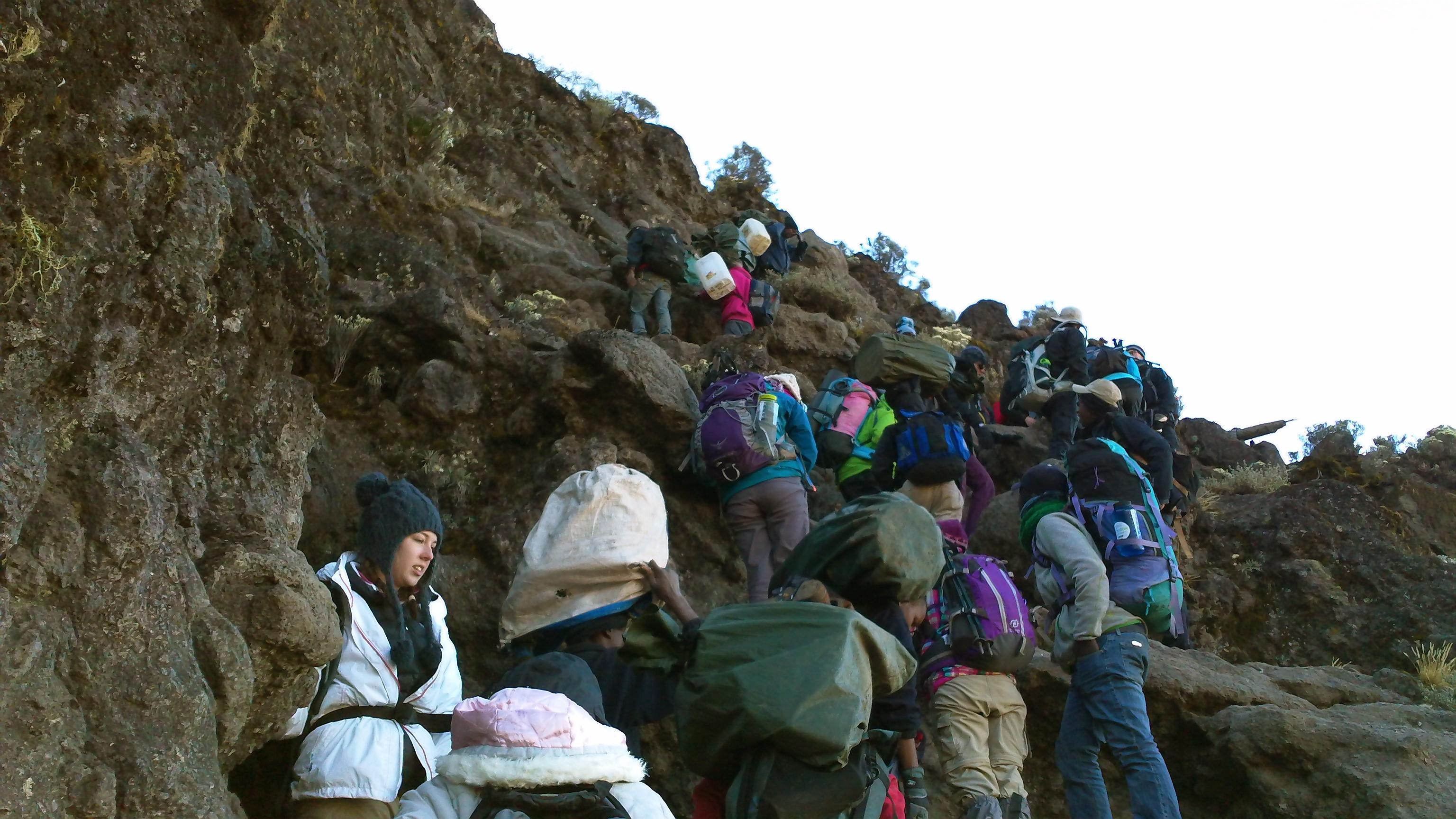 Barranco Wall Climbing Kilimanjaro