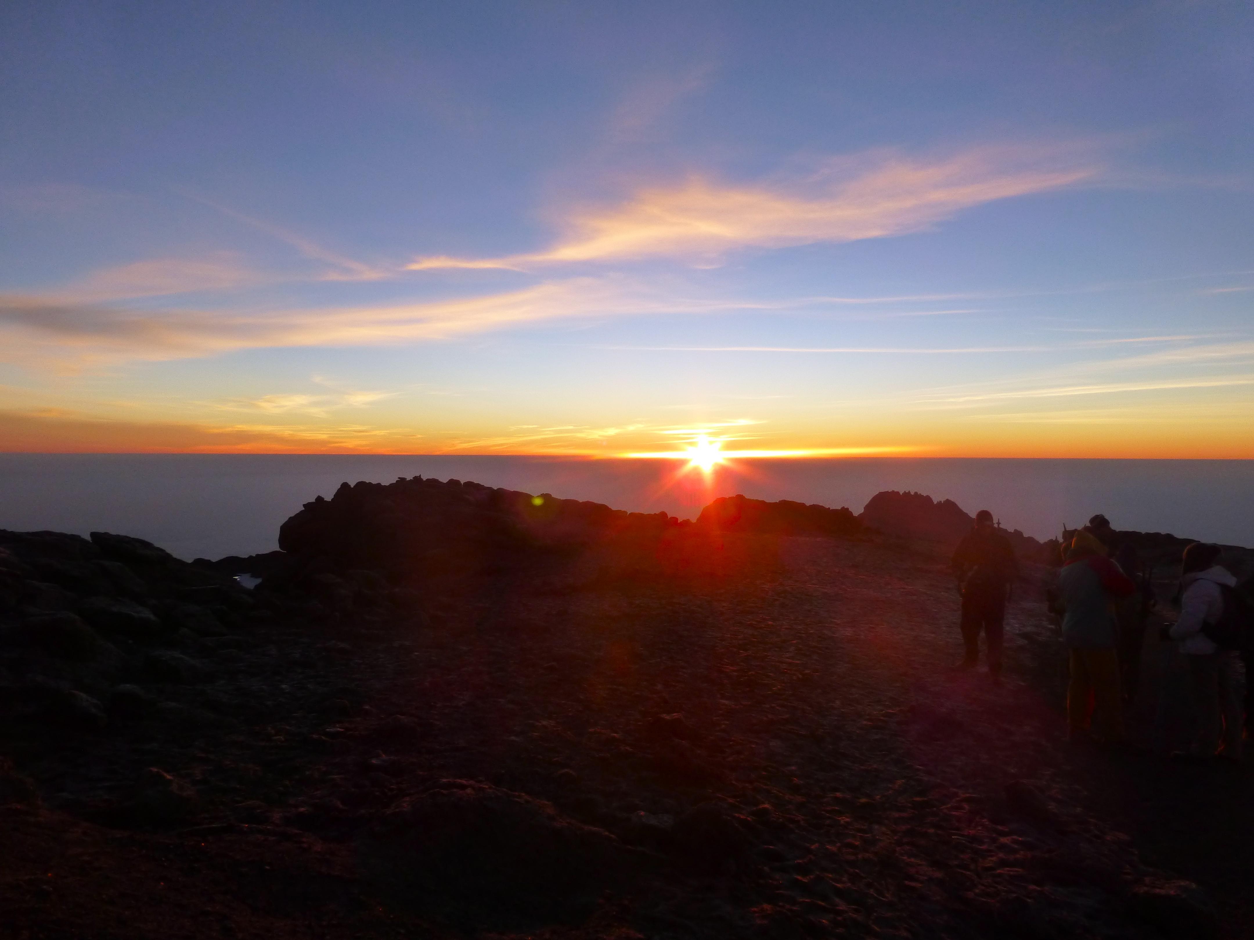 Kilimanjaro Uhuru Peak sunrise
