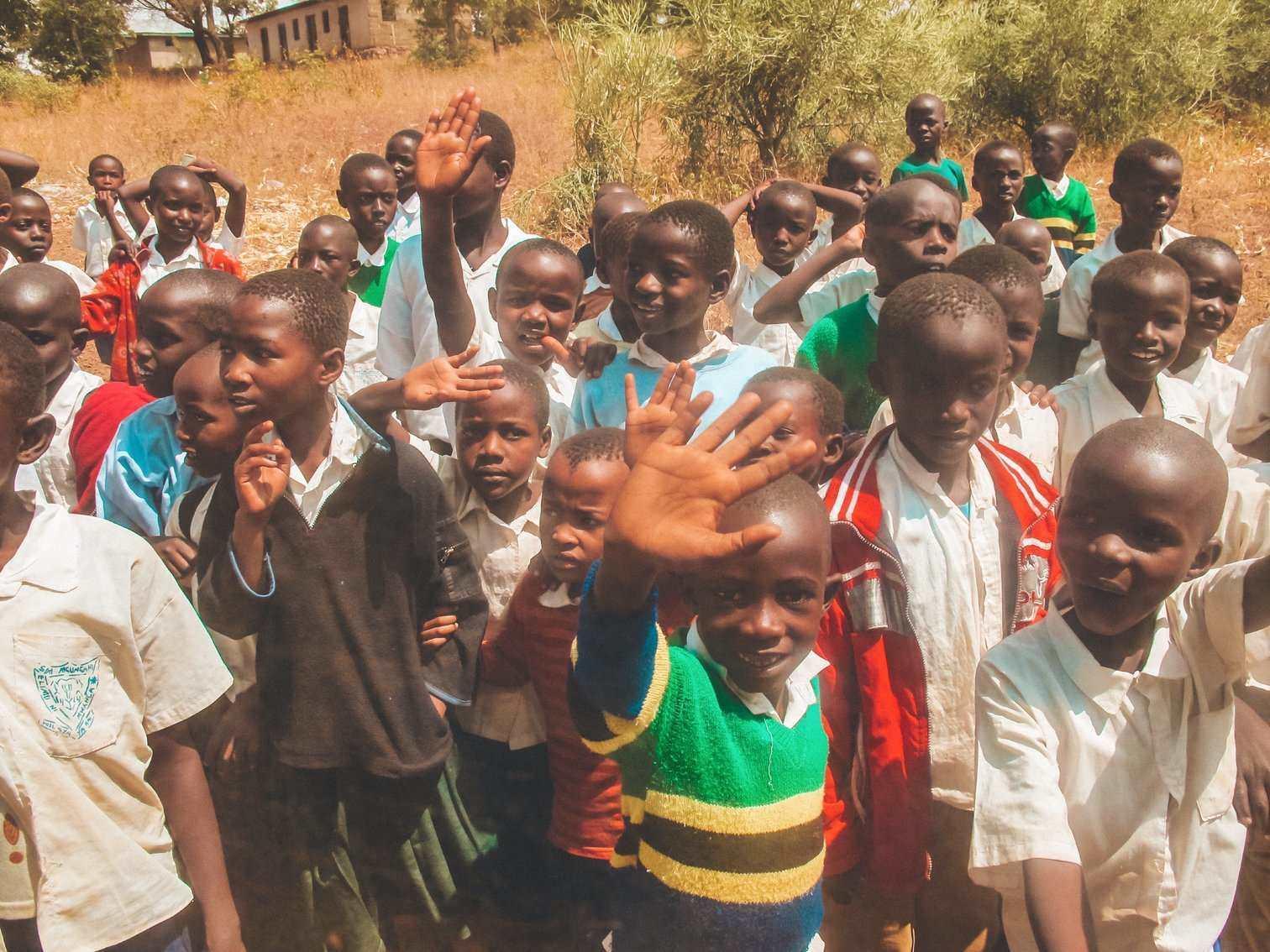 Tanzanian School Arrival
