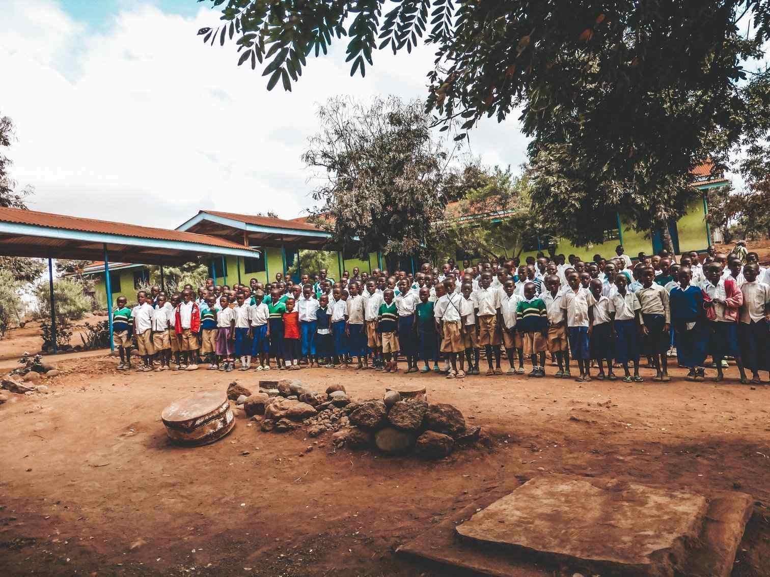 Tanzanian School Visit Kids