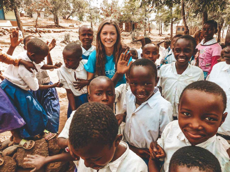 Visiting Tanzanian School