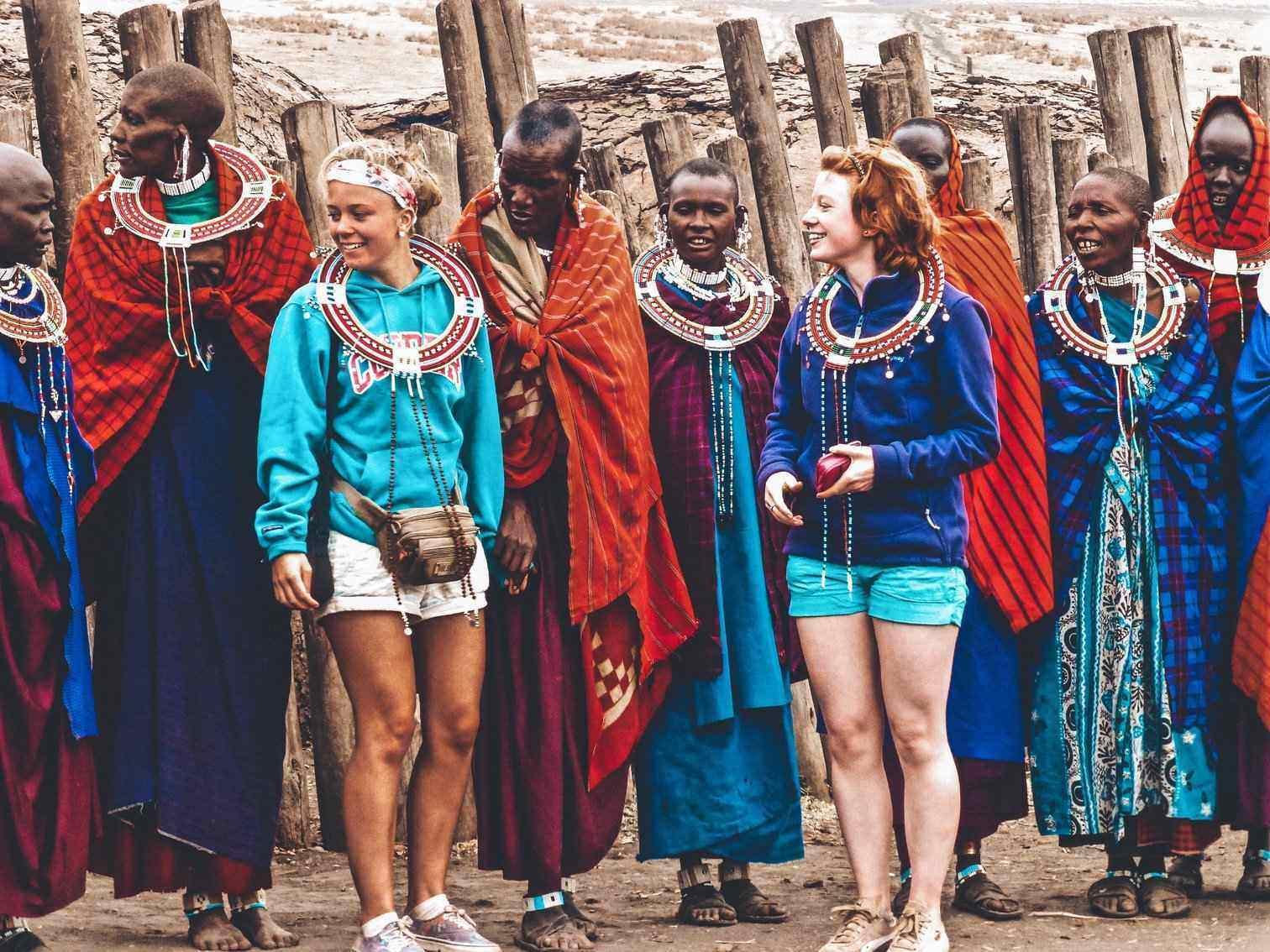 Visiting Maasai Tribe