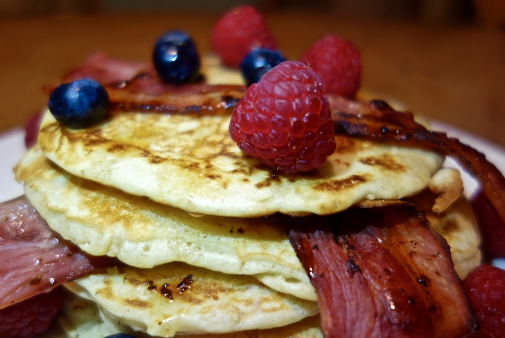 Berry Bacon Pancakes