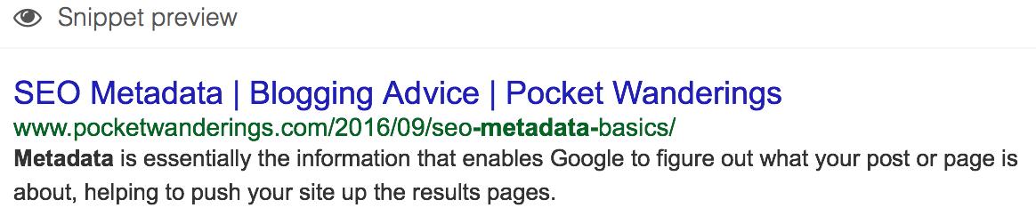 SEO metadata blogging advice