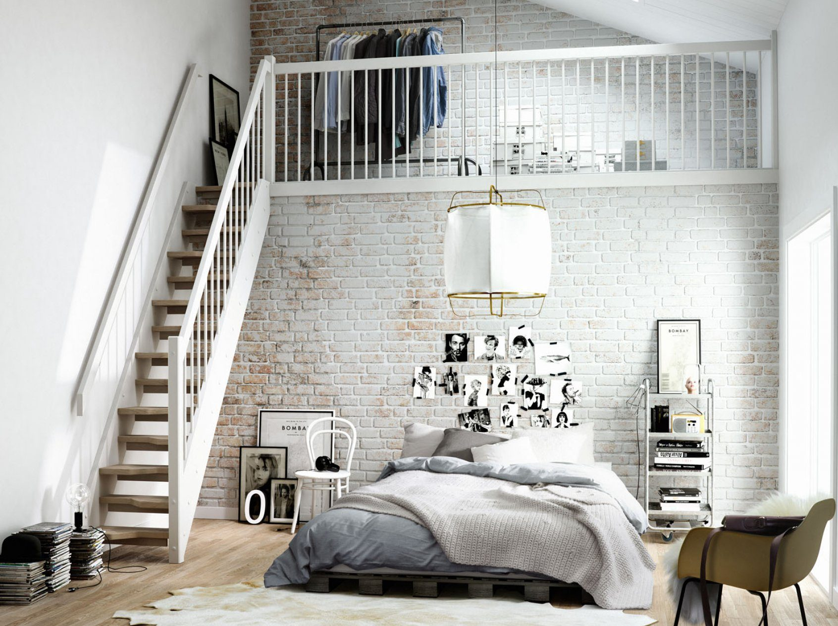 Exposed brick design