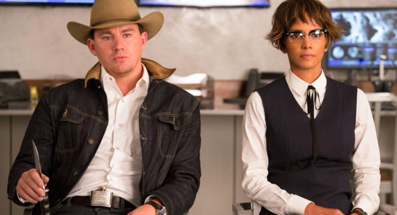 Channing Tatum & Halle Berry in Kingsman
