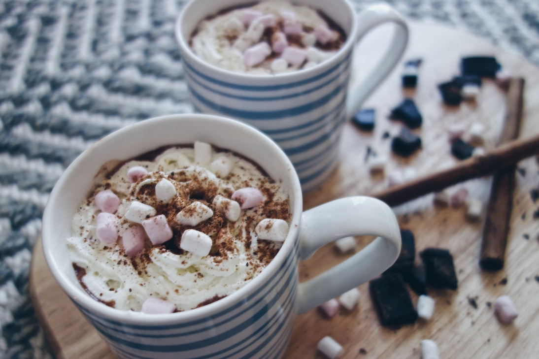 Homemade Baileys hot chocolate