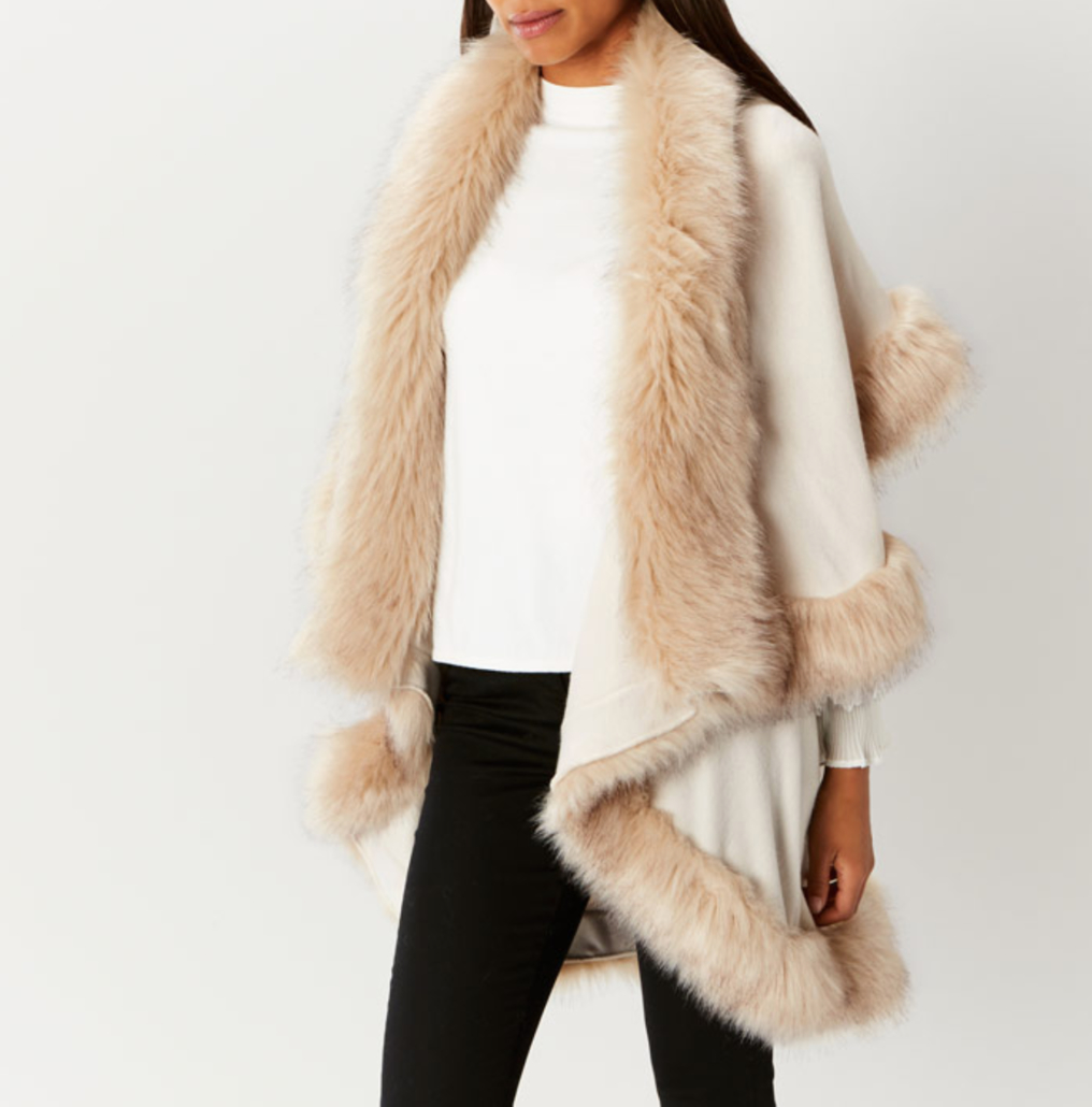 Coast faux fur cape