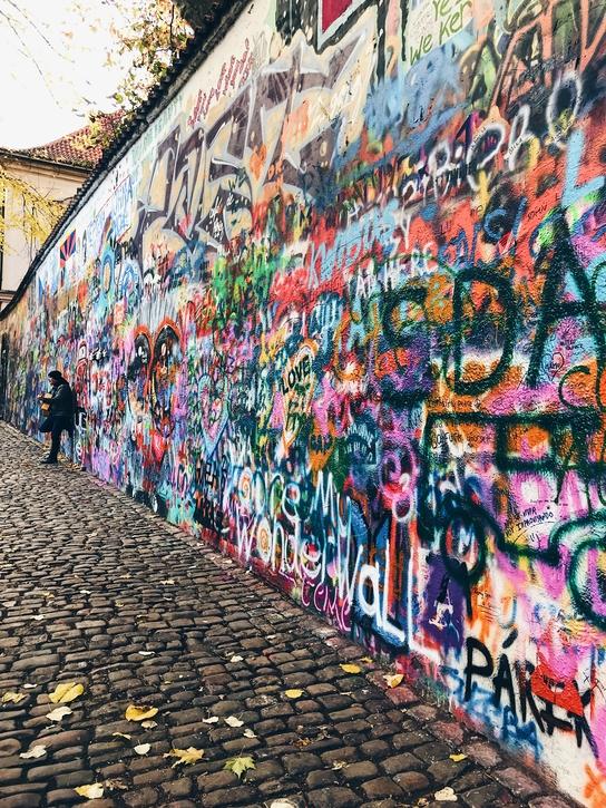 Graffiti wall Prague