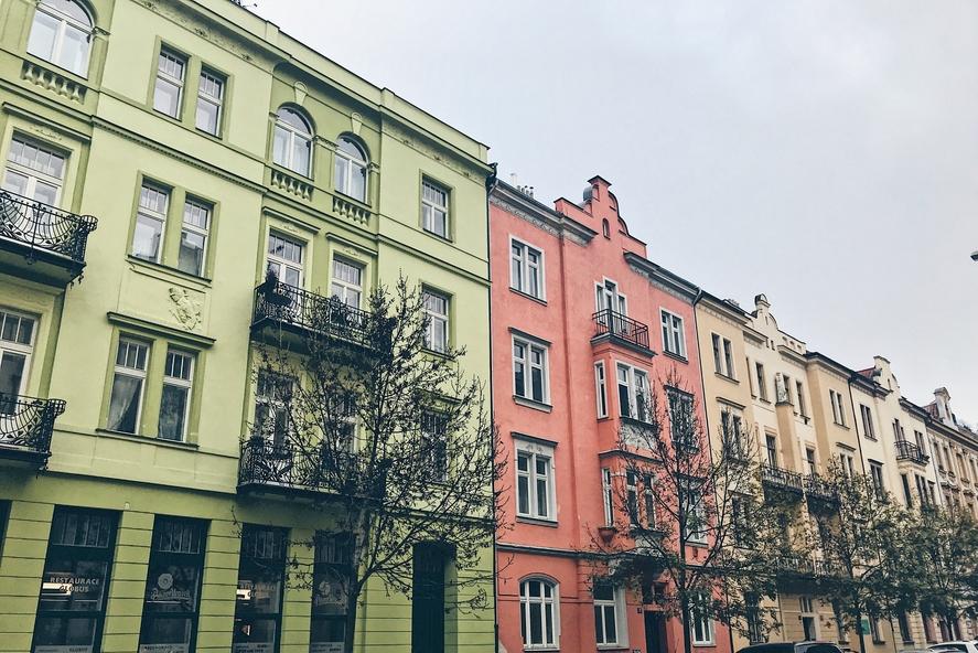Pastel houses Prague