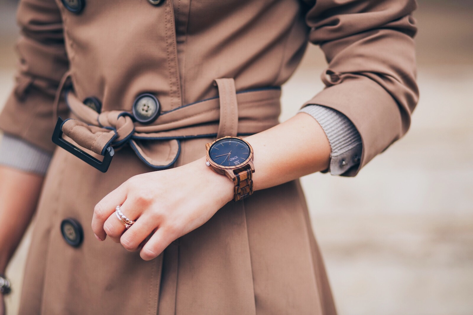 JORD navy wooden watch