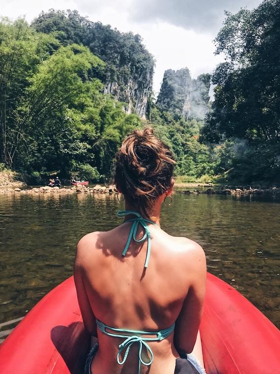 Kayaking through the jungle