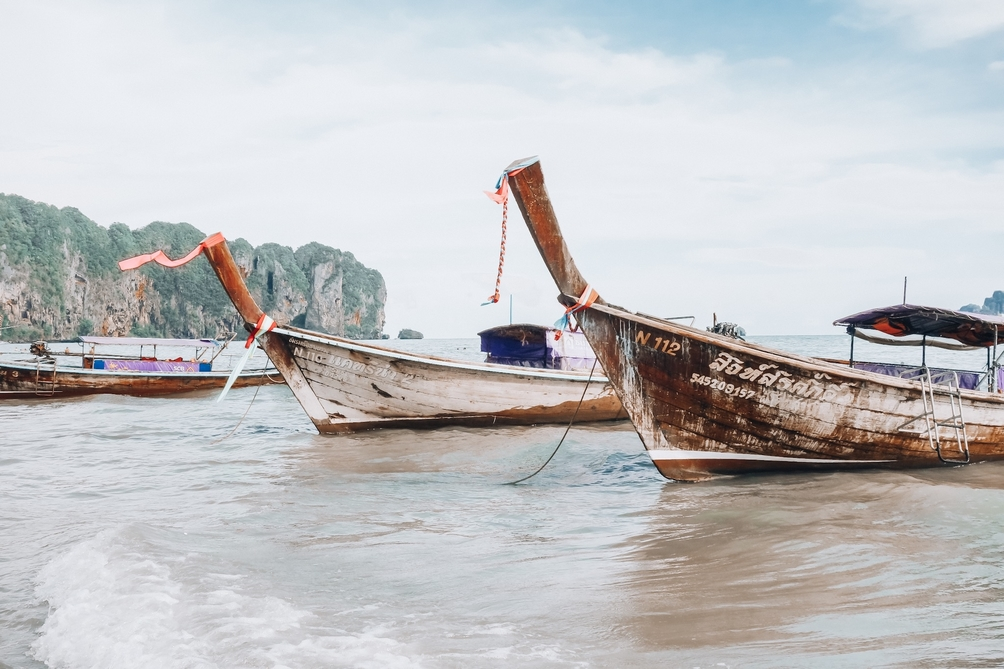 Long boats in Krabi, Thailand