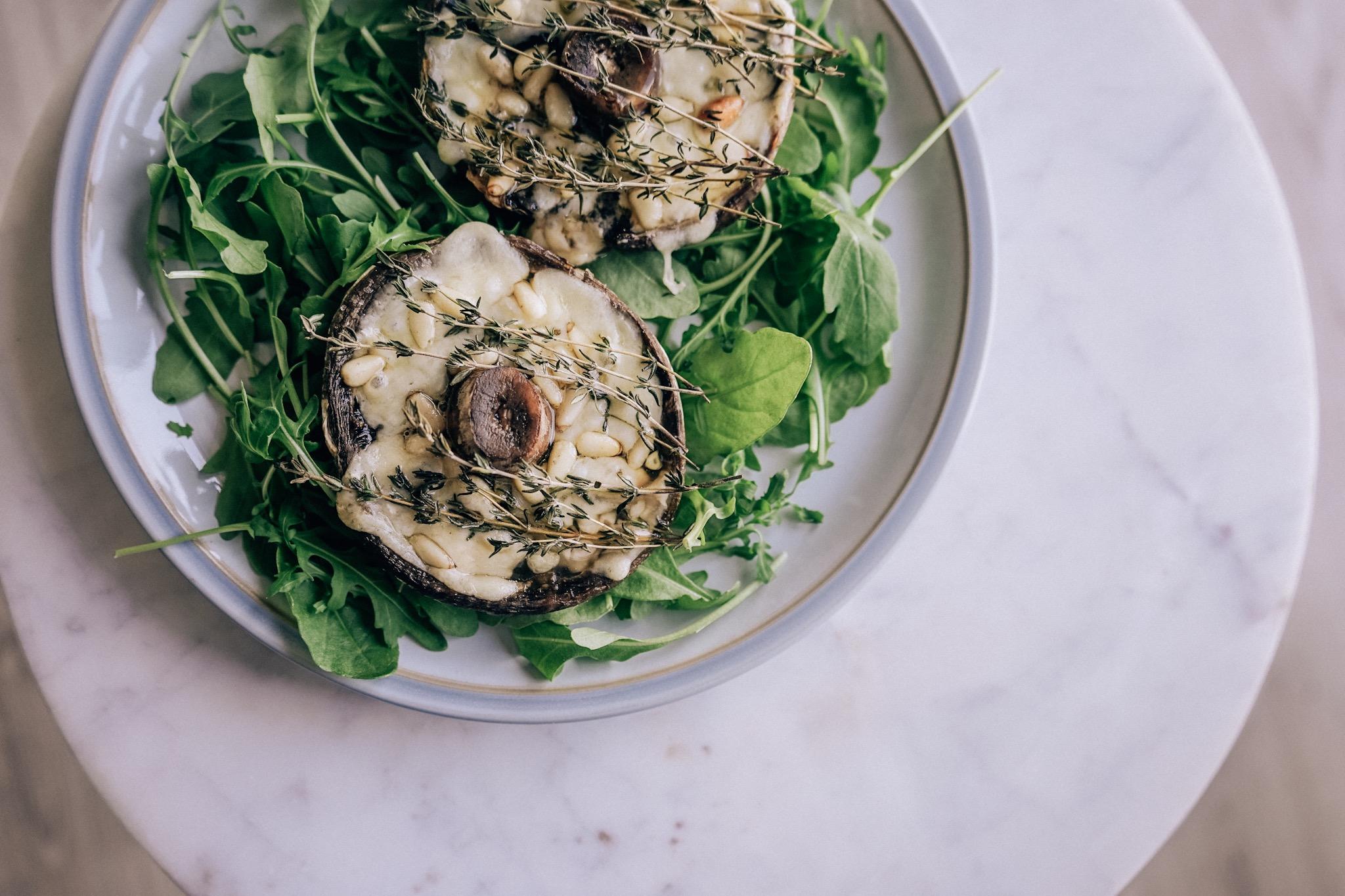 Cheesy baked mushrooms recipe