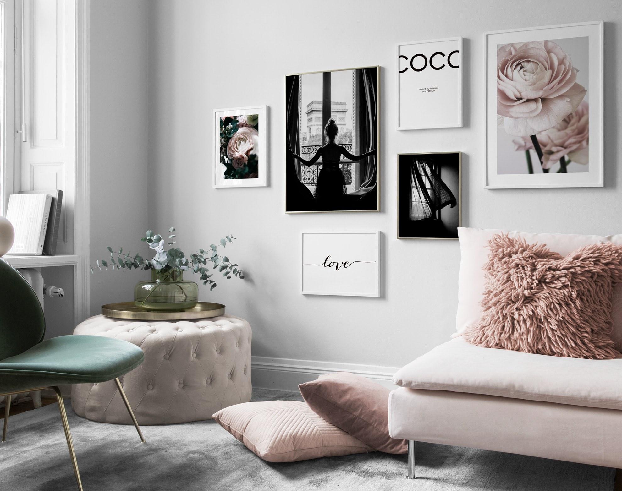 Desenio pink prints