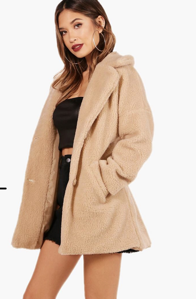Boohoo teddy coat
