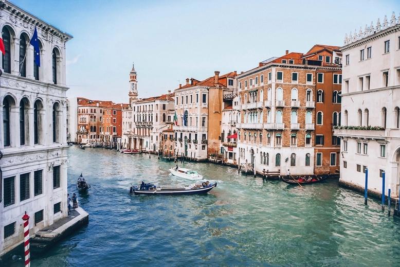 Grand Canal view from Rialto Bridge, Venice