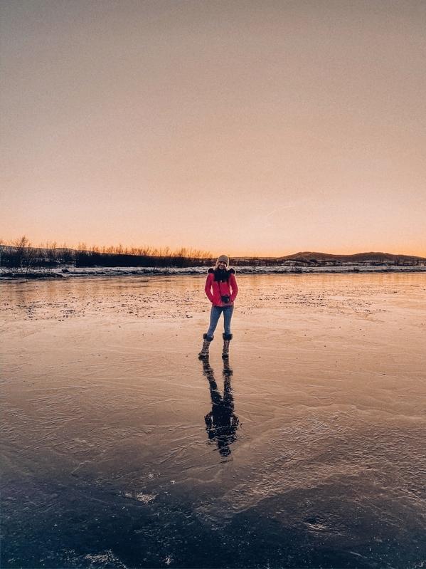 Þingvellier National Park frozen lake