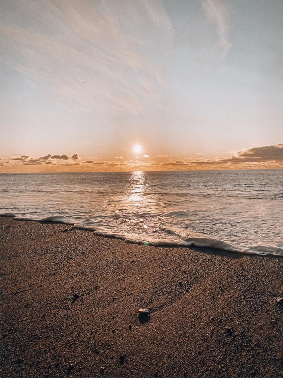 Black Beach Sunrise Iceland