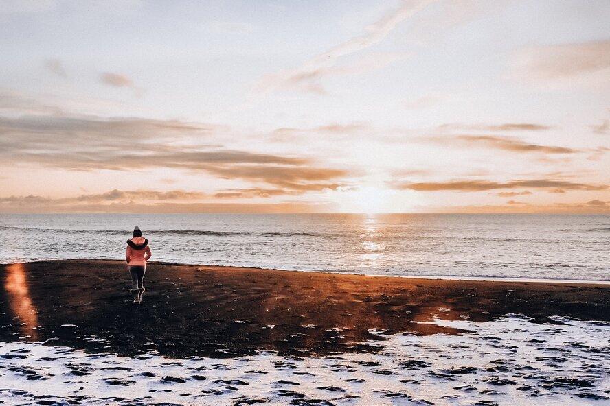 Black Sand Beach Iceland November